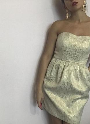 Платье золотое2