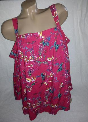 Вискозная блуза с открытыми плечами1 фото
