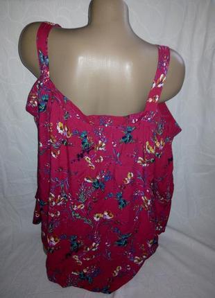 Вискозная блуза с открытыми плечами2 фото