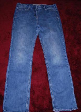 Прямые голубые стрейчевые брендовые джинсы next высокая посадка