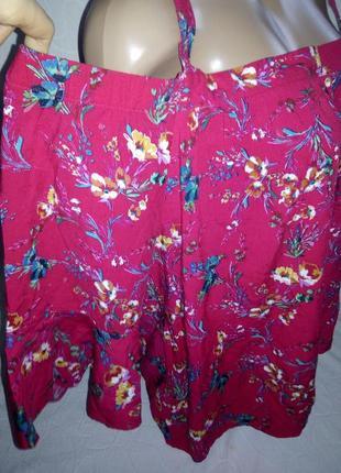 Вискозная блуза с открытыми плечами3 фото