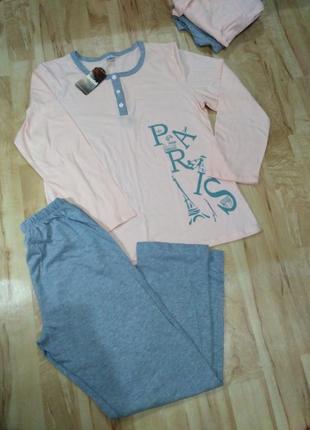 Пижама, 100% хлопок, размер l-хl