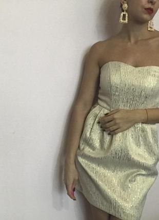 Платье золотое колокольчик3