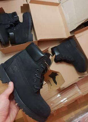 36-40 timberland black fur шикарные женские ботинки сапоги зимние с мехом теплые4