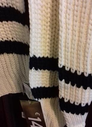 Набор: большой уютный шарф и перчатки с полосами, forever 212