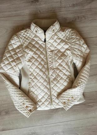 Бежевая куртка zara premium молочного цвета2