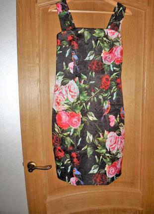 Нарядный сарафан из жаккарда, с розами, 42 размер2
