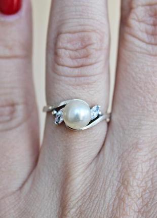 Серебряный набор фрейя (кольцо 17,5) скидка 10%!4