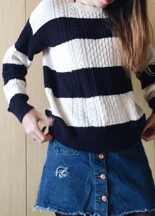 Объёмный свитер в полоску от mango3