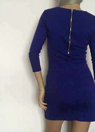 Платье синее4