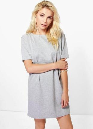 Новое серое платье прямого кроя boohoo1