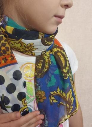 Платок шарфик с принтом