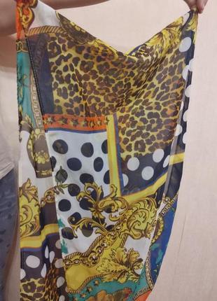 Платок шарфик с принтом3
