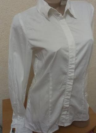 Актуальная рубашка,блуза с запонками рр 481