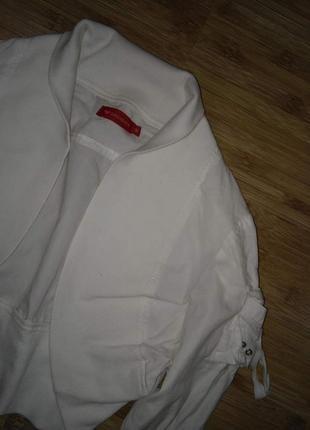 Белое коттоновое болеро - укороченная кофта -накидка - размер 44-462