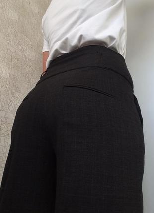 Интересные коричневые брюки клёш от бедра/палаццо/высокая посадка/на высокий рост1