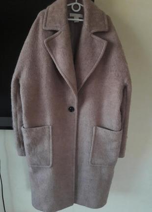 Пальто кокон оверсайз шерсть h&m