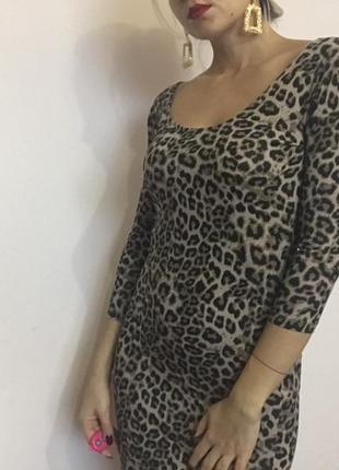 Платье в animal print3