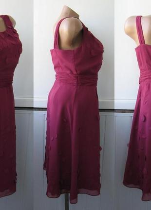 Платье шифоновое, коктейльное, гнилая вишня4