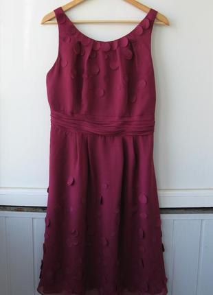 Платье шифоновое, коктейльное, гнилая вишня5