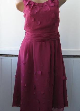 Платье шифоновое, коктейльное, гнилая вишня1