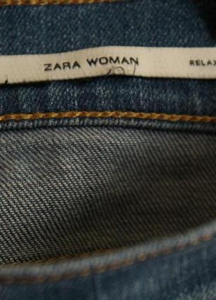 Укороченные рваные джинсы zara размер 305
