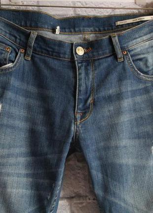 Укороченные рваные джинсы zara размер 302
