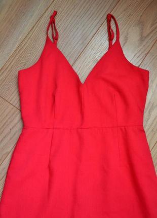Платье с воланом,оборкой.декольте , открытой спиной2