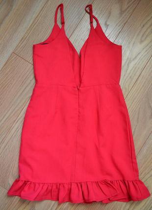 Платье с воланом,оборкой.декольте , открытой спиной3