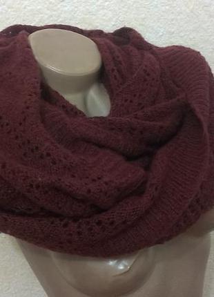 Красивый шарф-хомут1 фото