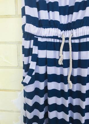 Платье в пол в полоску1 фото
