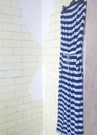 Платье в пол в полоску2 фото