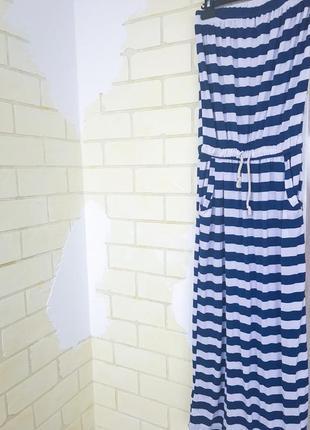 Платье в пол в полоску3 фото