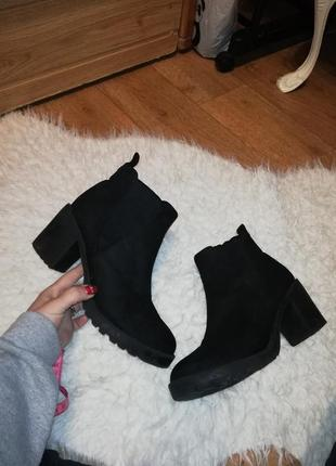 Ботинки женские ботинки на толстом каблуке1