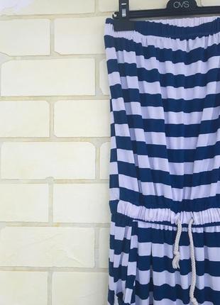 Платье в пол в полоску4 фото