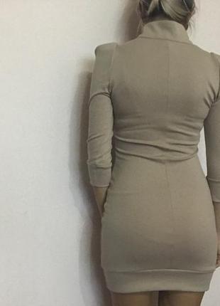Платье цвета нюд2