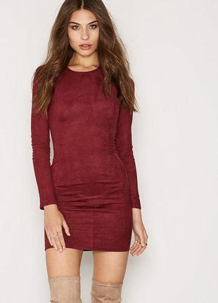 Шикарное платье по фигуре бургунди 💔 nly trend1