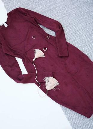 Шикарное платье по фигуре бургунди 💔 nly trend4