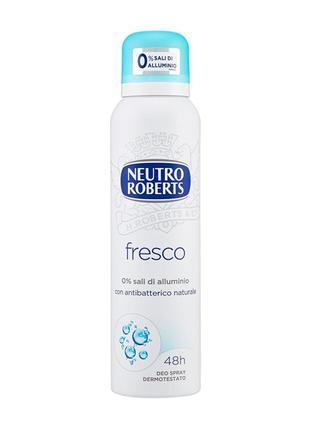 Дезодорант спрей neutro roberts fresco без алюминия, 150 ml1