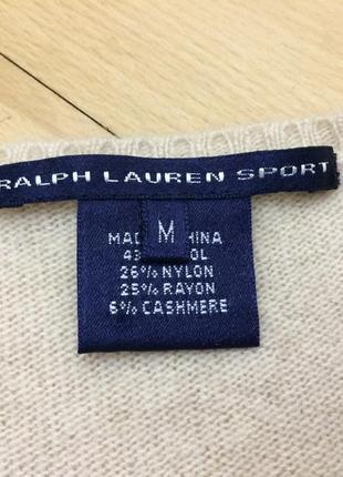 Шерстяной кашемировый свитер ralph lauren оригинал2