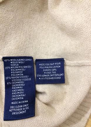 Шерстяной кашемировый свитер ralph lauren оригинал3
