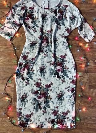Бархатное платье миди s3