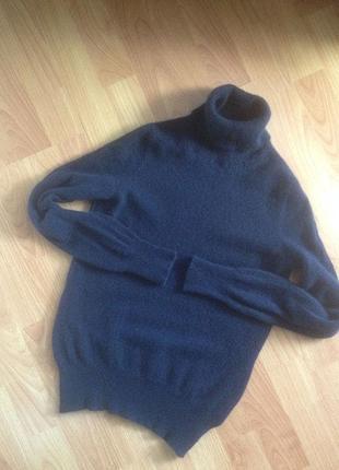 Синий кашемировый свитер m&s2