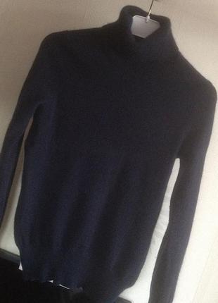 Синий кашемировый свитер m&s3