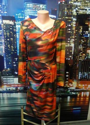 Красивое яркое платье размер с, небольшая м1