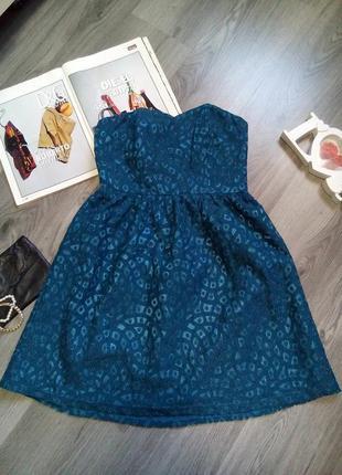 Стильное ажурное, кружевное платье бюстье2 фото