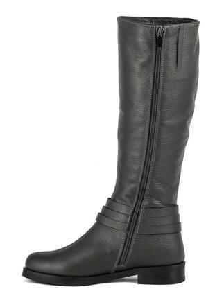 990цп женские сапоги scorpion,кожаные,на толстом каблуке,на каблуке,на низком ходу3