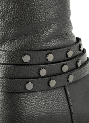 990цп женские сапоги scorpion,кожаные,на толстом каблуке,на каблуке,на низком ходу5
