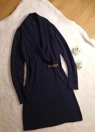 Платье тёплое синего цвета tommy hilfiger шерстяное1