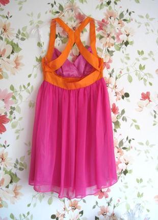 Яркое платье baby-doll из шелка lipsy2